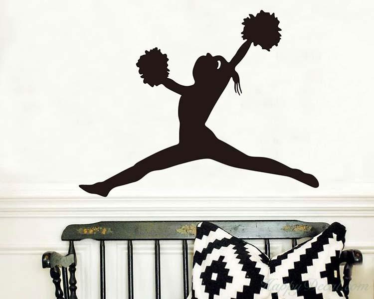 750x600 Girl Vinyl Decals Silhouette Modern Wall Art Sticker