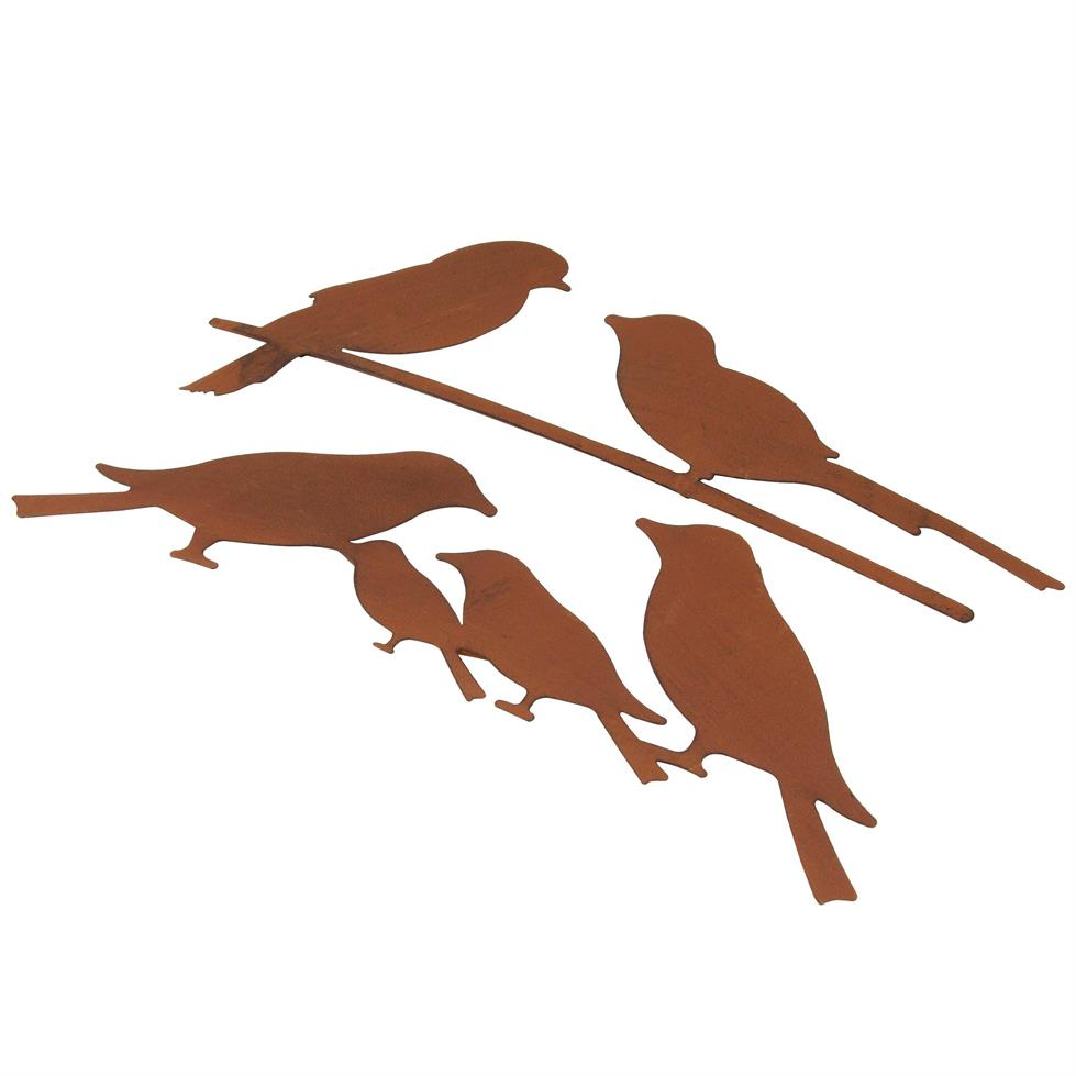 979x979 Set Of 2 Rusty Metal Bird Wall Art Silhouettes Home33