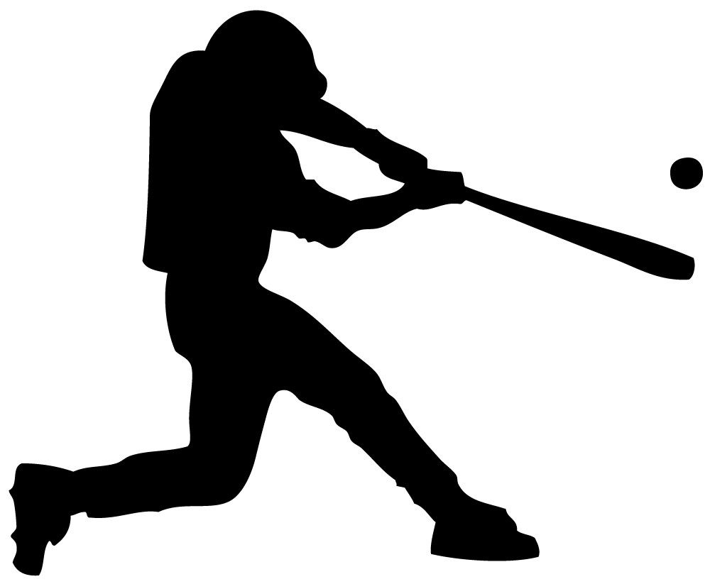 1000x823 Swinging Baseball Player Clip Art, Cricut And Scrapbook