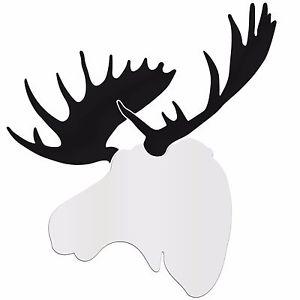 300x300 Contemporary Moose Large White Amp Black Decor