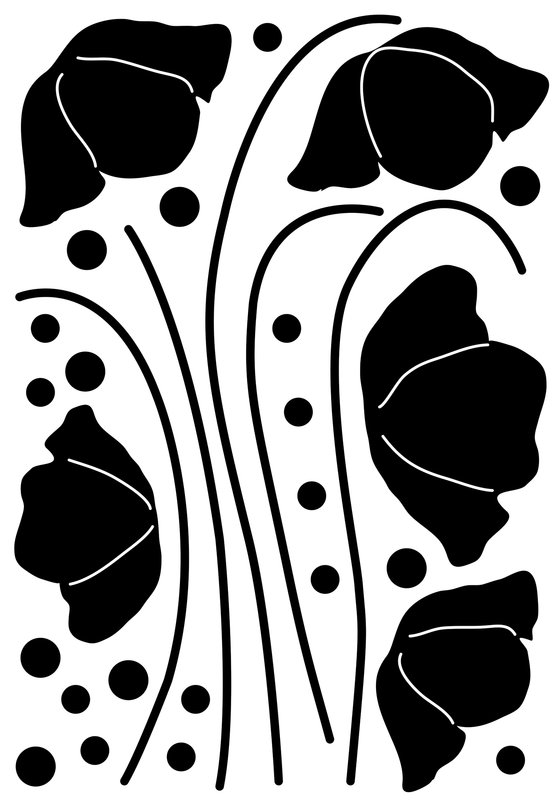 560x800 Brewster Home Fashions Euro Flower Silhouette Wall Decal Amp Reviews
