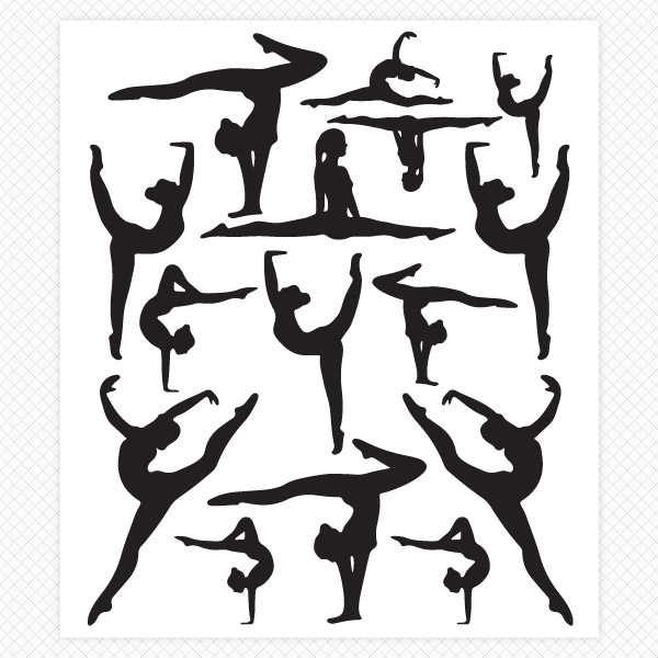 600x600 Dance Wall Stickers Dancer Silhouette Wall Decals