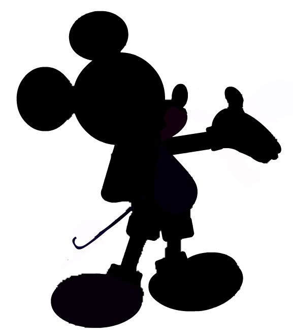 Selective image with free printable mickey mouse silhouette