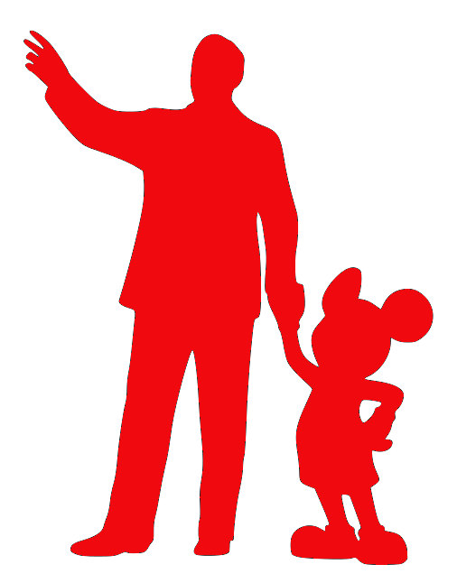 506x646 Items Similar To Walt And Mickey Statue Silhouette Sticker On Etsy