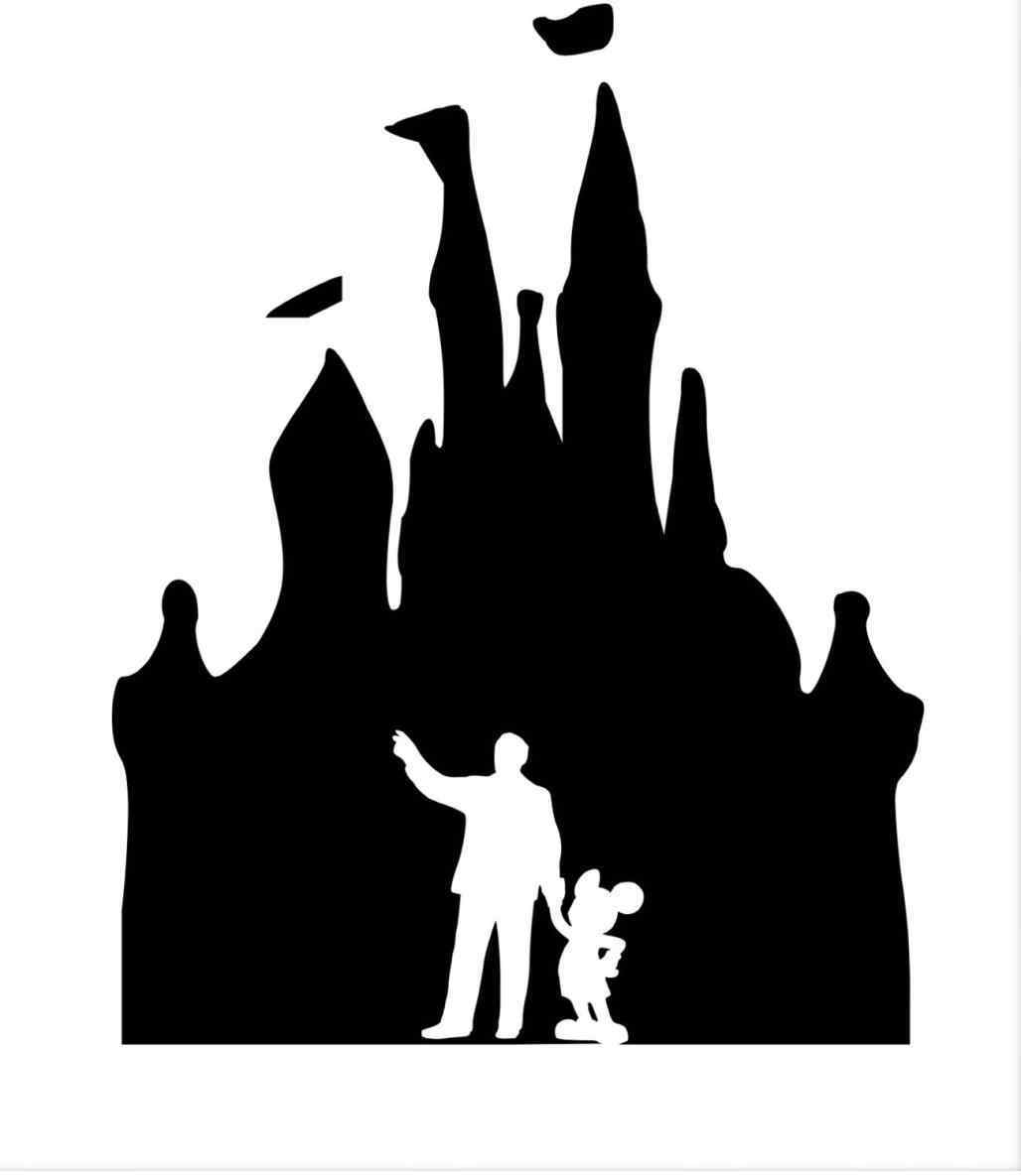 1028x1185 Walt Disney And Mickey Mouse Silhouette 2018