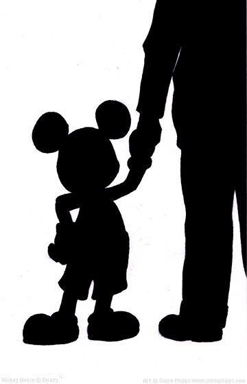 360x560 Walt Disney And Mickey Mouse Silhouette Png 82480 Tweb