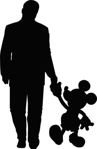 311x480 Walt Disney With Mickey Mouse Silouette, Etc Walt