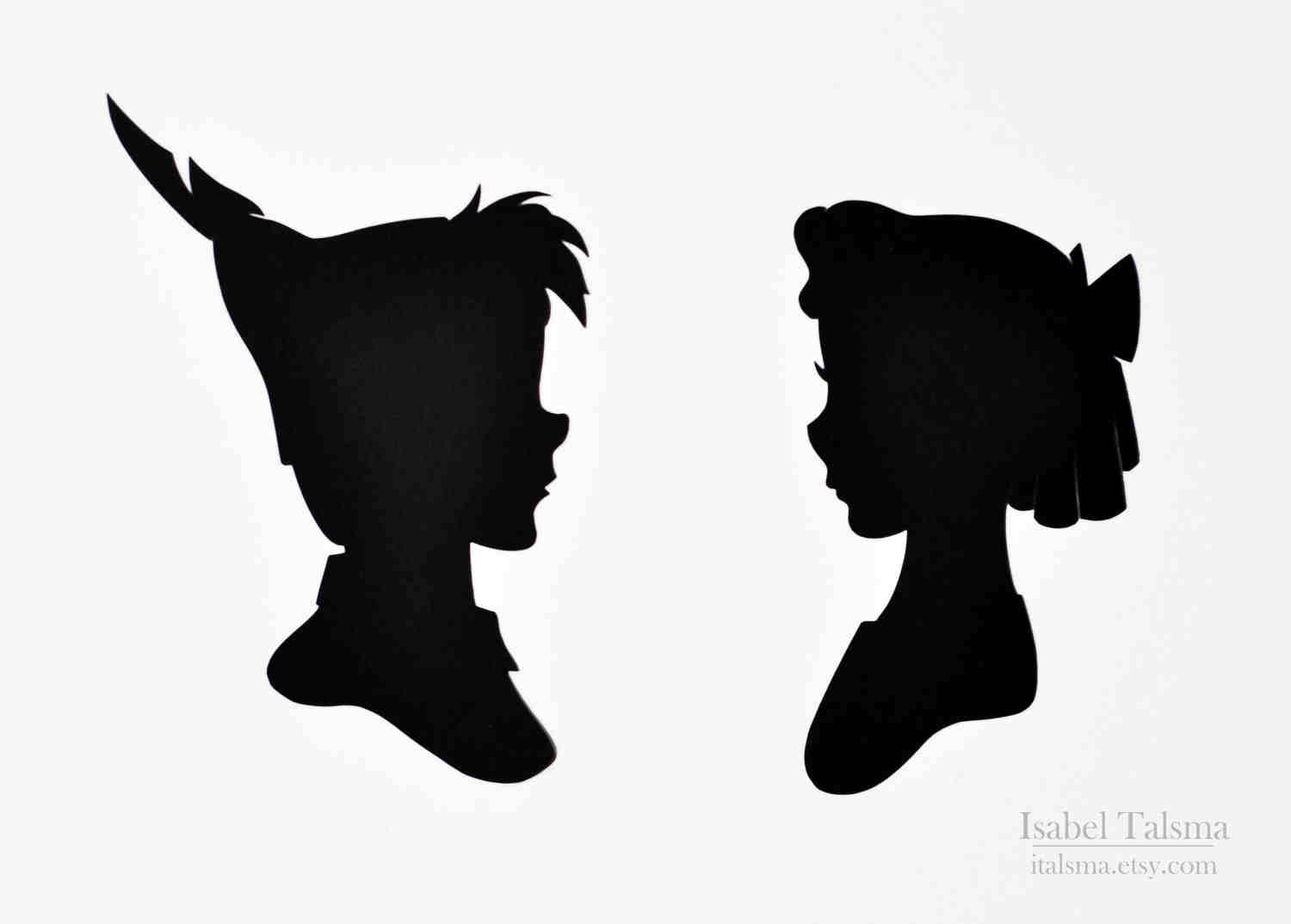 1500x1074 Peter Pan Amp Wendy Paper Craft Silhouette Papercraft
