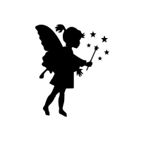 200x200 Little Fairy Girl Making Stars With A Wand Tattoo Design