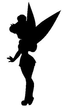 236x380 Tinkerbell Fairy Wand Silhouette Cutout Wall Stickers Car Decals