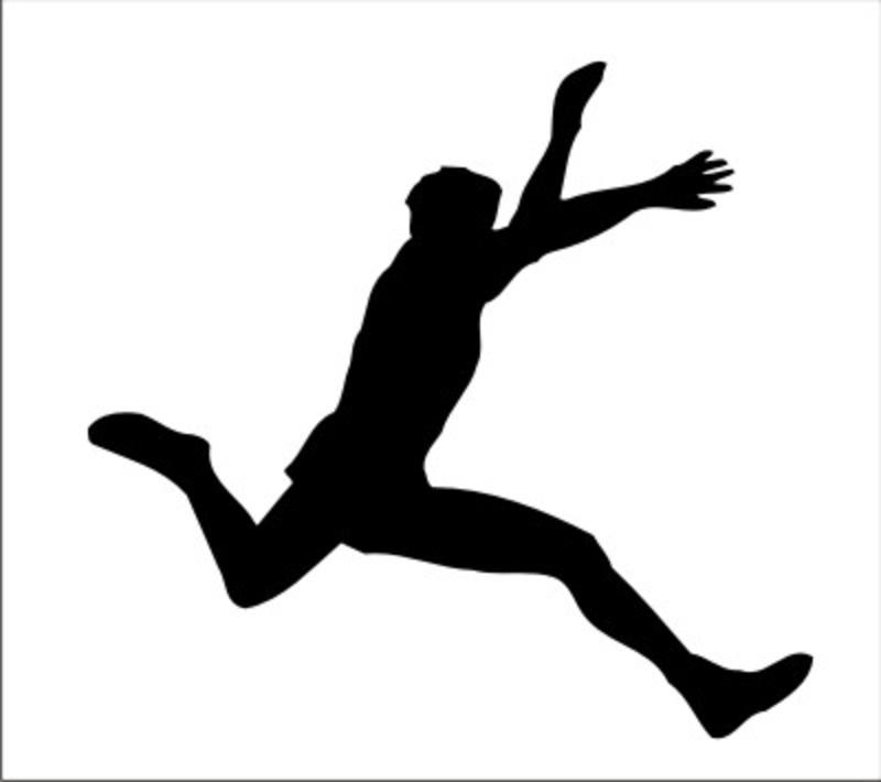 800x710 Athlete Silhouette Clipart