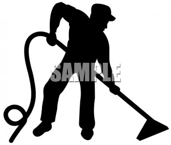 350x298 Carpet Cleaning Wand Silhouette