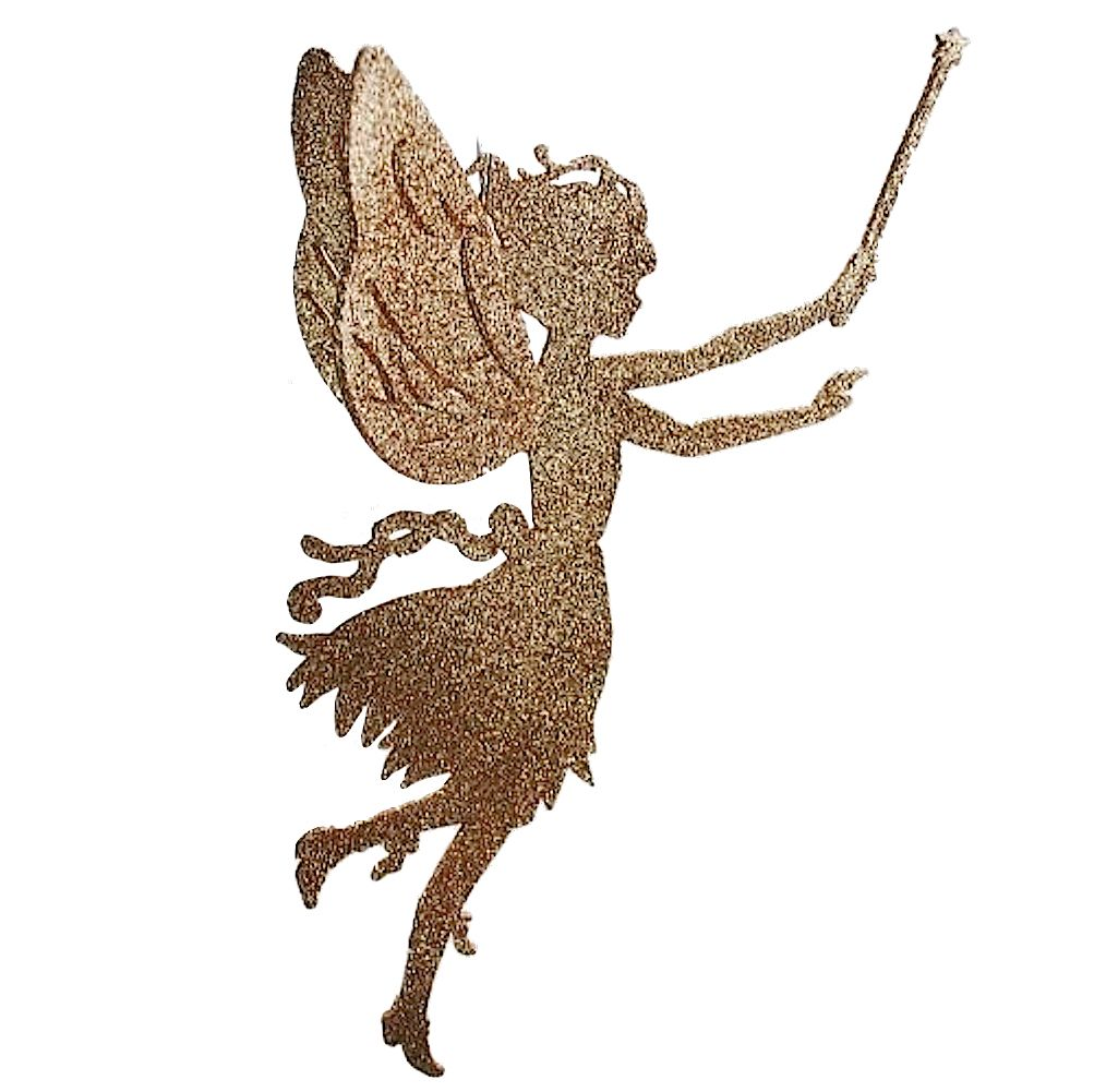 1003x1001 Fairy Decor Gold Fairy W Wand Silhouette Katherines Collection