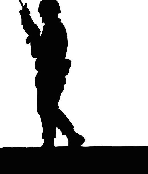 519x609 Soldier, Fighter, Protecting, Gun, Firearm, Guarding, Watch