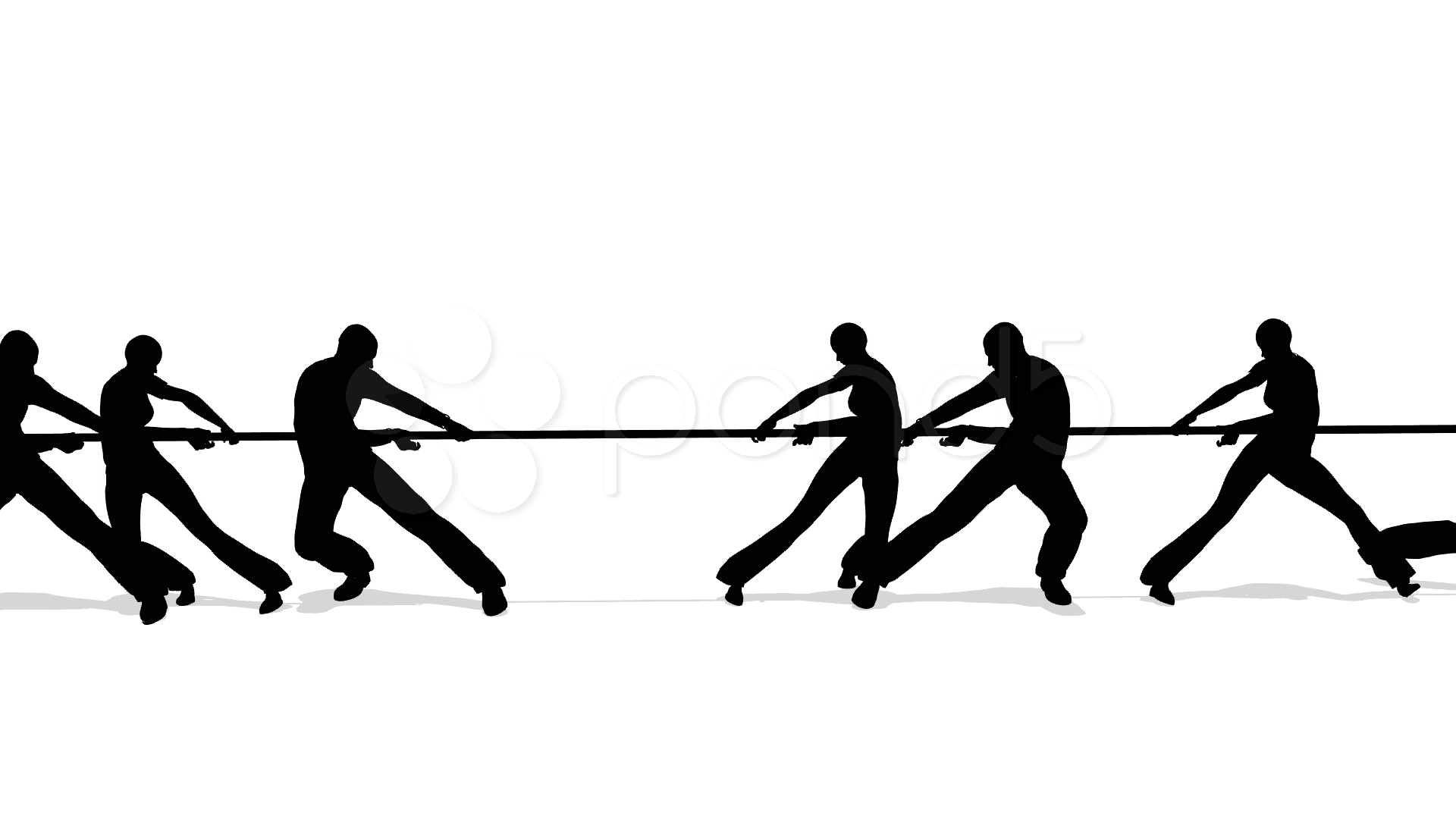 1920x1080 Tug Of War People Silhouette ~ Stock Video