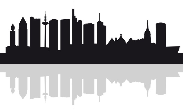 Skyline Frankfurt Silhouette