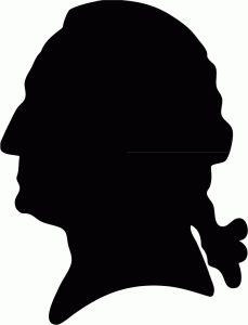 229x300 George Washington Lamplight Profile Silhouette Silhouette Fun