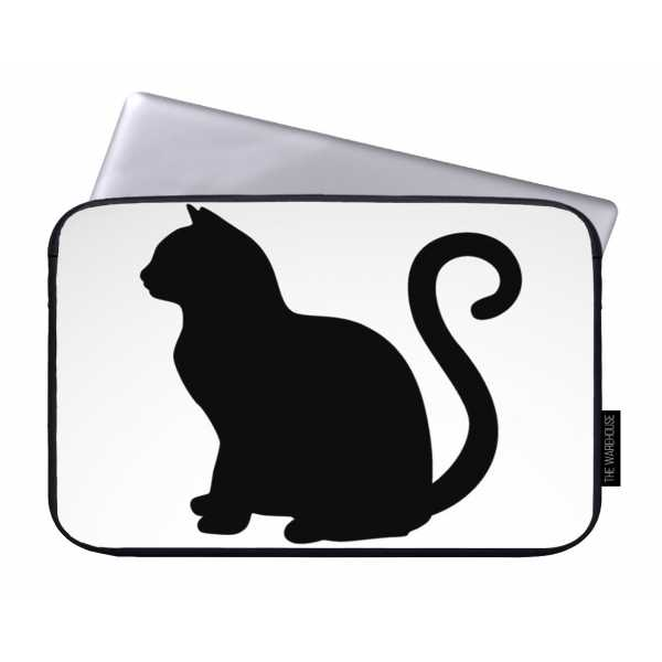 600x600 Cat Silhouette Printed Laptop Sleeves Rs.699 Price Online