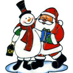 236x236 Christmas Decoration Light Up Metallic Santa Silhouette With Led