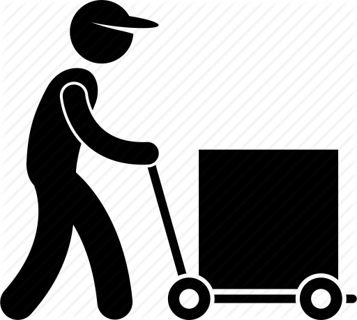 512x459 Delivery, Man, Occupation, Operator, Staff, Warehouse, Worker Icon