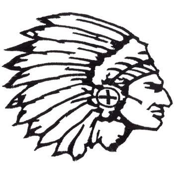 350x350 Indian Chief Head Outline Embroidery Design Outlines, Cricut