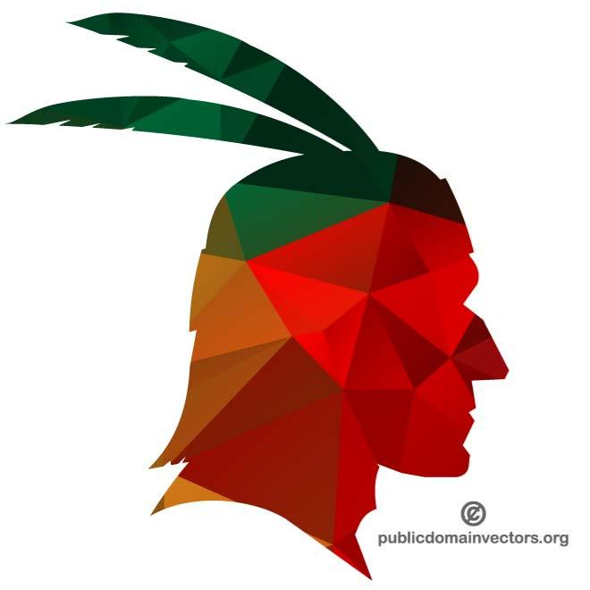 660x660 Silhouette Of Indian Chief