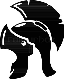 258x320 Spartan Skull And Helmet Silhouette, Greek Warrior