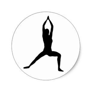 307x307 Warrior Yoga Pose Stickers Zazzle