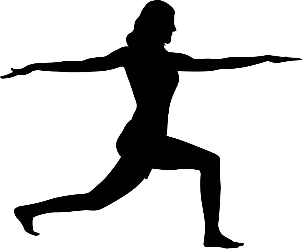 1044x860 Yoga Silhouette Wall Decals