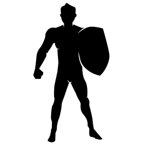 300x300 Man With Shield Silhouette Clipart, Cliparts Of Man With Shield