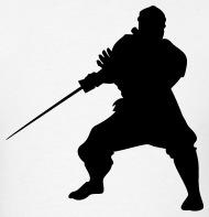 190x197 Ninja Warrior Silhouette By Azza1070 Spreadshirt