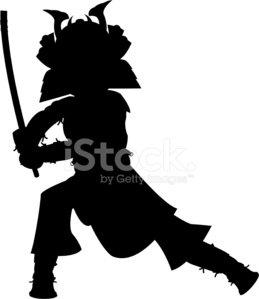 259x299 Samurai Warrior Silhouette Stock Vectors