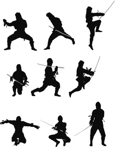 366x468 Ninja Warrior Clipart Silhouette