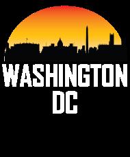 190x228 Sunset Skyline Silhouette Of Washington Dc By Awesome Shirts
