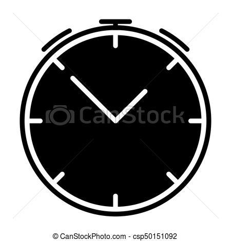450x470 Alarm Clock Silhouette Icon. Vector Symbol. Alarm Clock Eps
