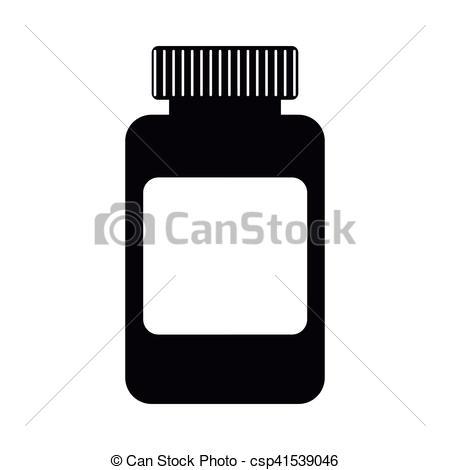450x470 Medicine Bottle Icon. Silhouette Of Medicine Bottle Eps Vector