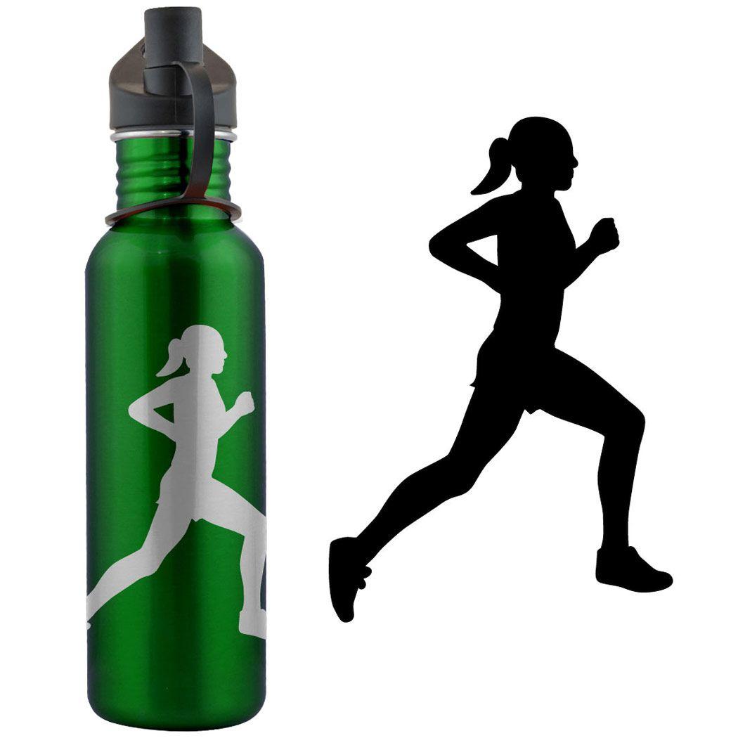 1050x1050 Runner Silhouette Running Girl Silhouette 24 Oz Stainless Steel