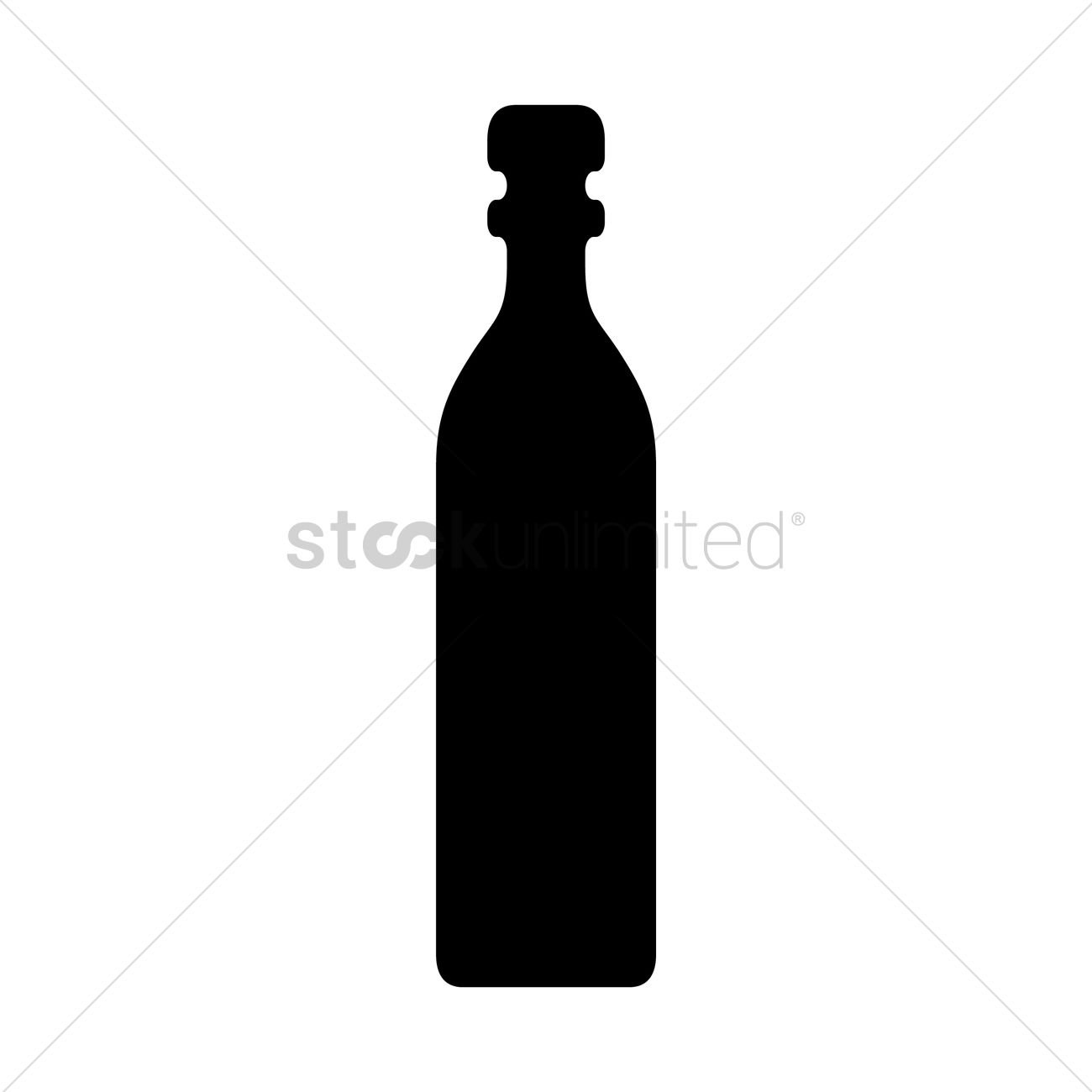 1300x1300 Bottle Silhouette Vector Image