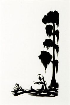 236x354 Louisiana Swamp Scene, Cut File Clip Art, Silhouette, Cricut
