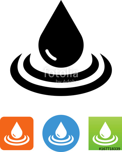 401x500 Water Drop With Ripple Icon