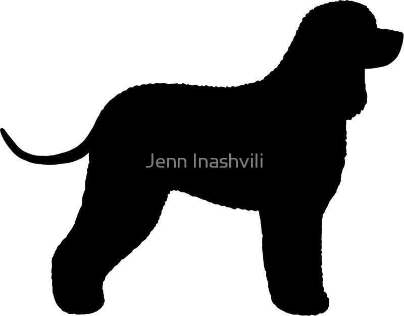 800x626 Irish Water Spaniel Silhouette(S) Stickers By Jenn Inashvili