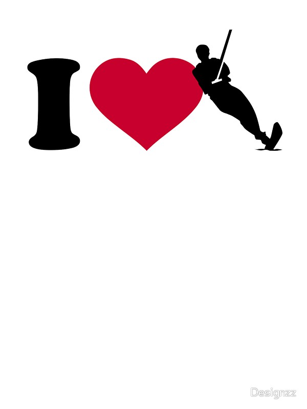 600x800 I Love Water Ski Stickers By Designzz Redbubble