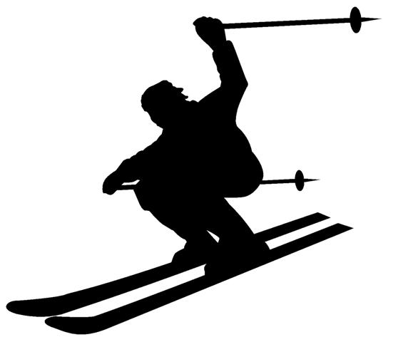 558x480 List Of Synonyms And Antonyms Of The Word Skier Silhouette