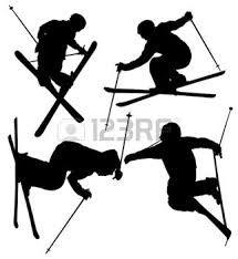 215x234 Ski Snow Boarder Sports Silhouette Clipart Illustration Instant