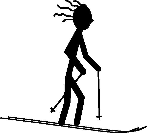 594x535 Skier Silhouette Clip Art