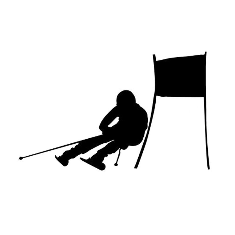 800x800 Buy Silhouette Skier And Get Free Shipping