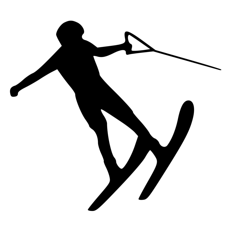 1500x1500 Water Skiing Die Cut Decal Car Window Wall Bumper Phone Laptop
