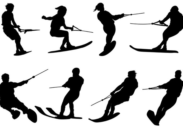632x443 Free Water Skiing Icons Vector Free Vector Download 402035 Cannypic