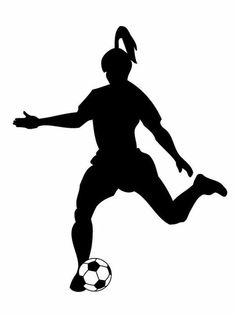 236x315 Soccer Player Silhouette (M) 24 Oz Stainless Steel Water Bottle
