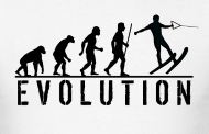 190x122 Water Skiing Evolution T Shirt By Mcdesign Spreadshirt